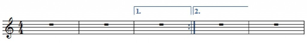 反復小節線1番括弧
